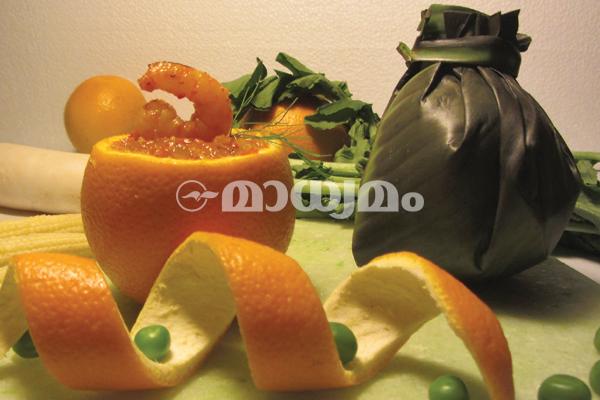 prawn with Orange