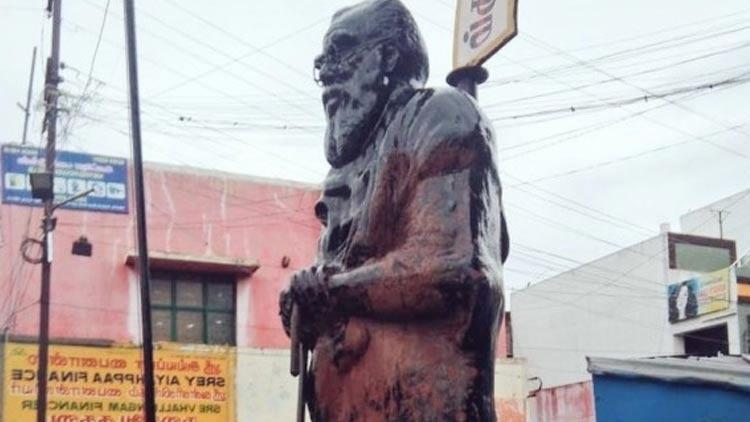 പെരിയാർ പ്രതിമ കാവിപൂശി; ഭാരത്സേന പ്രവർത്തകൻ പിടിയിൽ