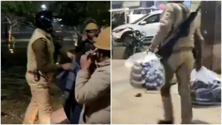 ലഖ്നോയിൽ സമരക്കാരുടെ ബ്ലാങ്കറ്റുകളും ഭക്ഷണവും പിടിച്ചെടുത്ത് യു.പി പൊലീസ് -Video