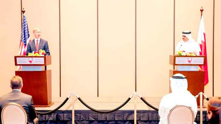 ഇറാെൻറ ഭീഷണി നേരിടുമെന്ന് യു.എസും ബഹ്റൈനും