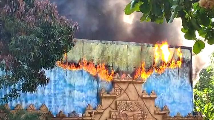 ഡ്രീം വേൾഡ് വാട്ടർ തീം പാർക്കിൽ വൻ തീപിടിത്തം -Video