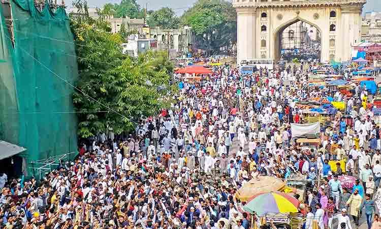 ഹൈദരാബാദിൽ ഇരമ്പിയാർത്ത് പ്രതിഷേധം