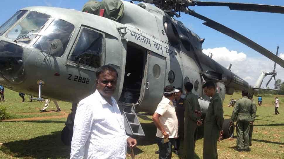 സാങ്കേതിക തകരാർ: വ്യോമസേനയുടെ മിഗ്-17 ഹെലികോപ്ടർ ഇടിച്ചിറക്കി