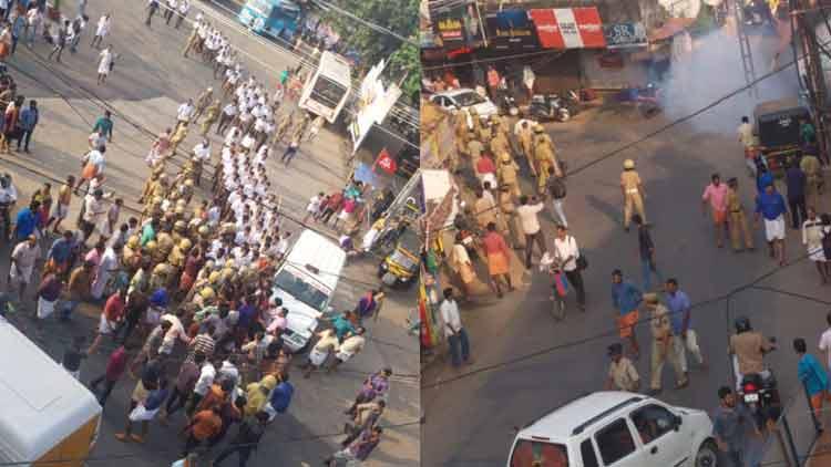 നീലേശ്വരത്ത് സി.പി.എം-ആർ.എസ്.എസ് സംഘർഷം; ദൃശ്യങ്ങൾ പുറത്ത് VIDEO