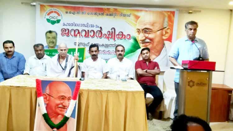ഒ.ഐ.സി.സി റിയാദ് സെൻട്രൽ കമ്മിറ്റി ഗാന്ധിജയന്തി ആഘോഷിച്ചു