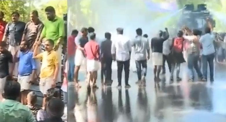 പൗരത്വ ഭേദഗതി നിയമം: ഡി.വൈ.എഫ്.ഐയുടെ രാജ്ഭവൻ മാർച്ചിൽ സംഘർഷം VIDEO