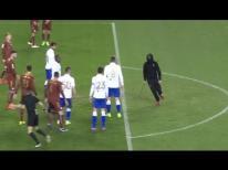 Hajduk Split vs Rijeka armed hooligan attacks referee