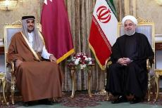 Sheikh-Tamim-with-Hassan-Rouhani.
