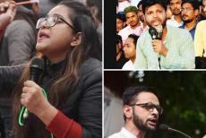 Umar Khalid, Meeran Haider, Safoora Zargar