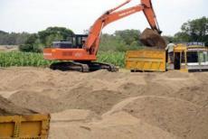 sand quarrrying