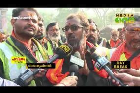 1200 കിലോമീറ്റര് കാല്നടയായി ഹൈദരാബാദില് നിന്ന് അയ്യപ്പഭക്തര് | Ayyappas From Hyderabad